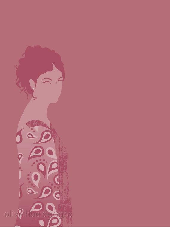 Inara Serra Firefly 8x10 minimalist poster in rose pink