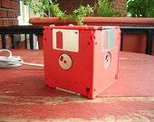 Floppy Disk Night Lamp - Red