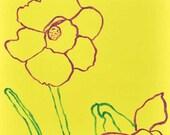 Daffodil Art Print - nursery art, yellow, flower, spring, nature, home decor, baby's room, girl, 8x8