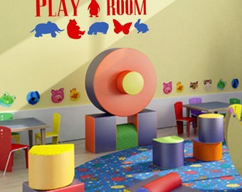 Playroom Wall Decal - Removable Vinyl