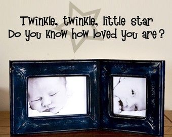 Twinkle little star - Wall Decal for Nursery or Kids Room - Removable Sticker