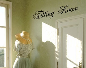 Fitting Room Decal (can be customized) - Removable Vinyl Lettering - Store decal