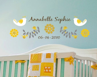 Sweet Sunshine Wall Decal with personalized name - Removable Vinyl
