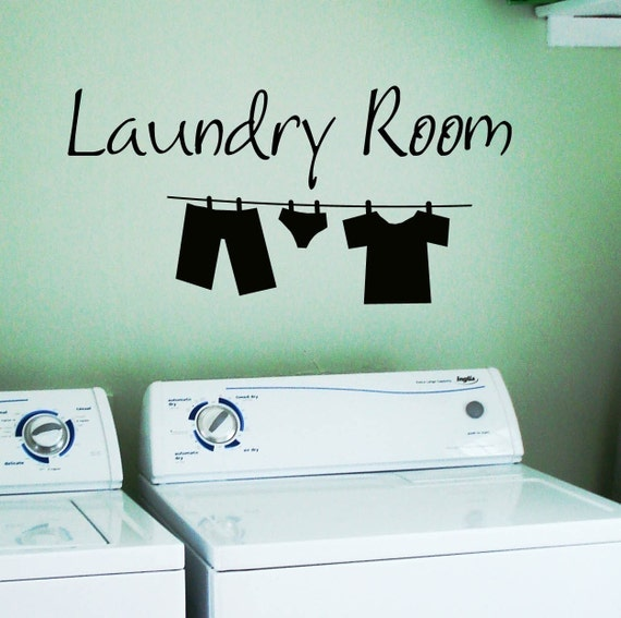 Laundry Room Wall Stickers Laundry Room Wall Decal Clothes Line Removable Vinyl