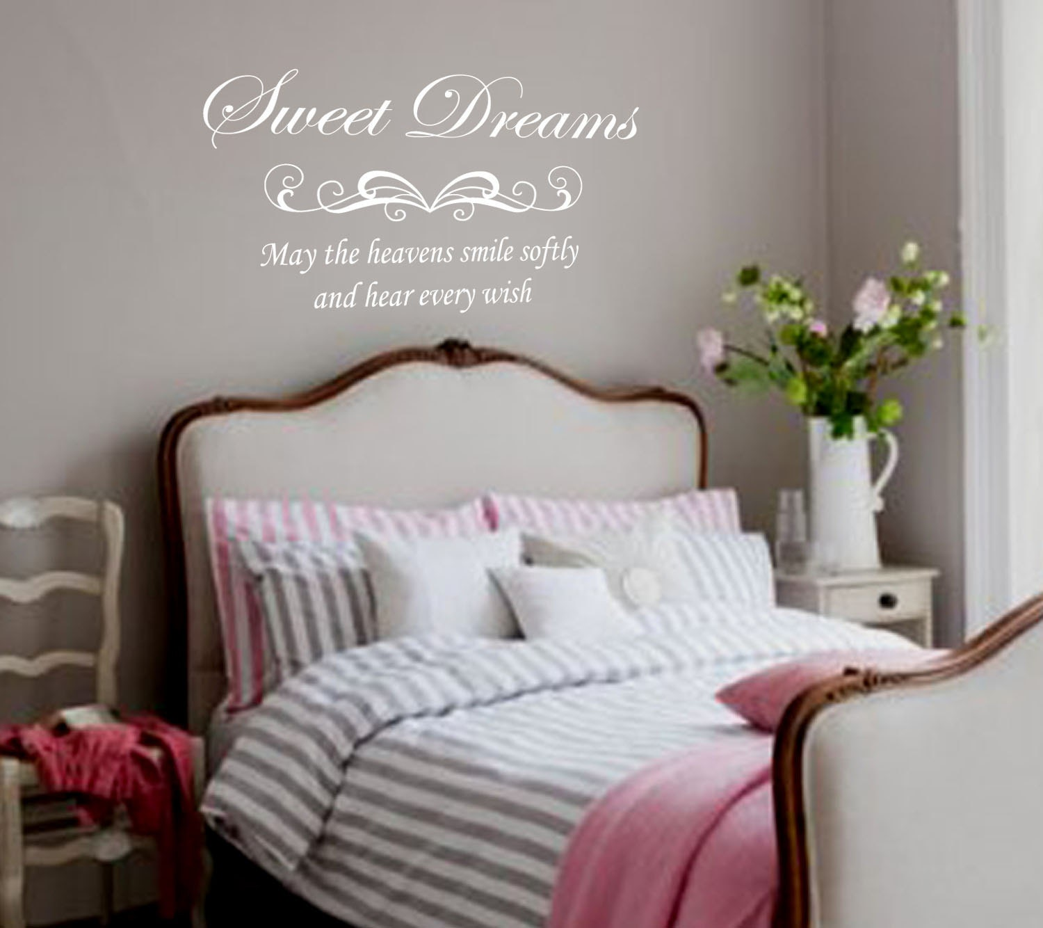 Bedroom wall decal sweet dreams removable vinyl lettering for Decor dreams