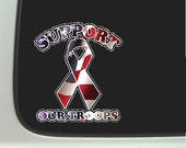 Support Our Troops Car Decal Window Laptop Patriotic Sticker