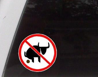 No Bull Funny Car Decal Window Laptop Fun Sticker