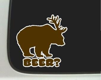 Beer Funny Car Decal Window Laptop Fun Beer Sticker