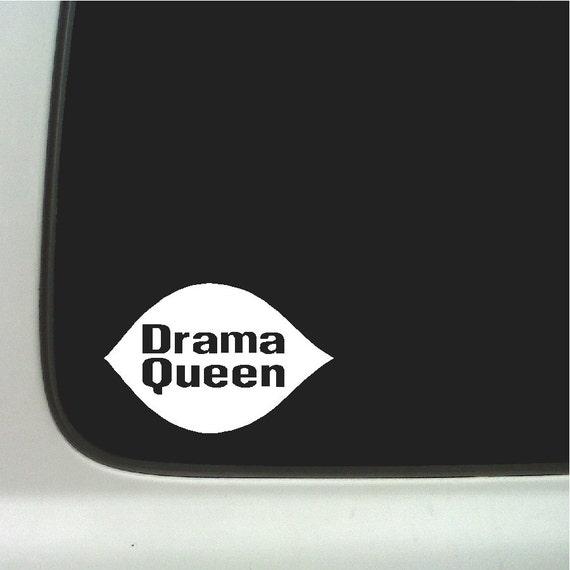 Drama Queen Funny Car Decal Window Laptop Fun Sticker Item #1