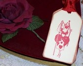 Valentine Gift Tags-Art Deco/Vintage Queen of Hearts