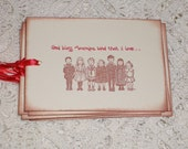 Memorial Day Gift Tags - Vintage Children Singing God Bless America - Patriotic - Fourth of July Gift Tags Set of Six