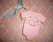 Baby Gift Tags - Onesies -Duck - Shower - Wish Tree Tags - Set of Six - Adorable