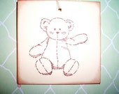 Baby Bear Gift Tags  - Baby Shower Tags- Wish Tree Tags - Set of Five