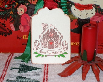 Christmas Gift Tags-Gingerbread House -  Set of Six