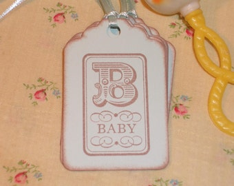 Baby Gift Tags- B  is for Baby - Baby Gift Tags in Blue
