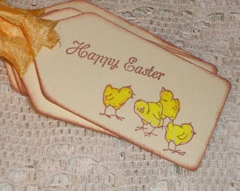 Easter Gift Tags - Little Baby Easter Chicks - Set of Six