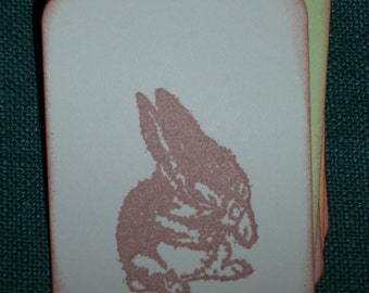 Easter Gift Tags - Young Bunny Gift Tags - Easter - Set of Six - Baby Shower - Wish Tree