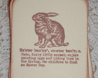 Easter Gift Tags - Definition of the Easter Bunny - Set of Six