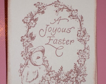 Easter Gift Tags - A Joyous Easter with Chick -  Set of Six