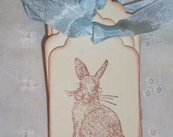 Easter Gift Tags - Sweet Little Bunny -  Set of Six