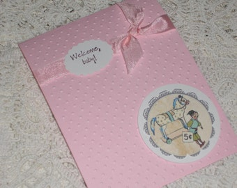Sweet Little Baby Girl Card - Welcome Baby