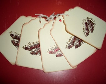 Ruby Slippers Tag - Dorothy's Ruby Slippers - Wizard of Oz - Set of Six - All Occasion Tag