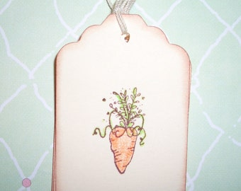 Easter Carrot Gift Tag - Easter Gift Tags - Set of Six