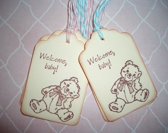 Baby Bear Gift Tags -  Baby Shower - Wish Tree Tags - Set of Six