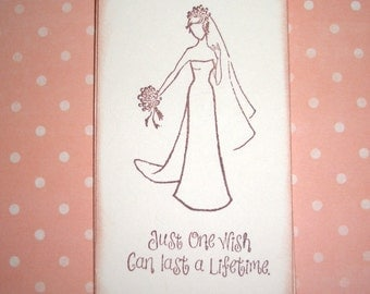 Wedding Gift Tags - Lovely Bride - Just one wish can last a lifetime. - Wish Cards - Wish Tree Tags - Shower - Set of Six