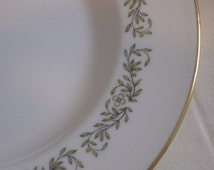 vintage Minton China salad plates - Pattern APRIL - set of six