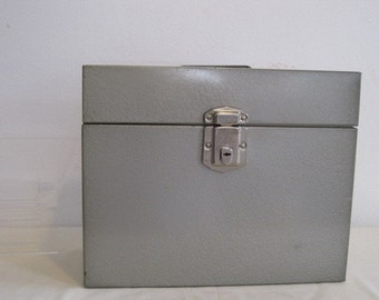 vintage Metal File Box by Hamilton Skotch