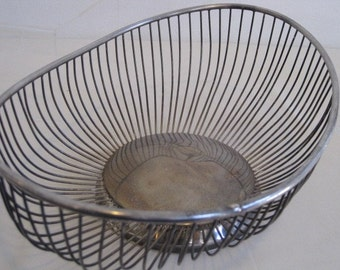 vintage Silverplate Wire Basket
