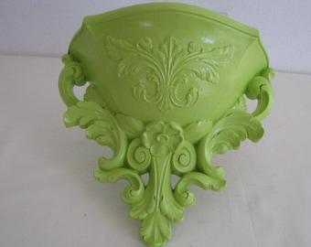 vintage Key Lime Storage - Molded Plastic Urn Basket