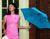 Jackie O pink linen shift dress, sz XS S 2 4