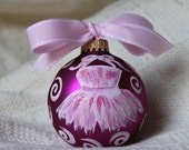 Handpainted Dance Ornament, Dance Christmas Ornament, Ballet Christmas Ornament, Dance Teacher Gift, Ballerina Ornament