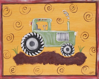 Truckin' Tractor 16x20 paintng