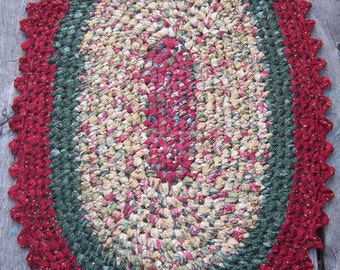 Free Crochet Pattern For Oval Rag Rug : Crochet Oval Rag Rugs Pattern-Instant Download