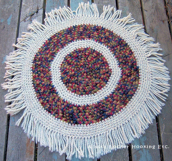 Crochet Round Rag & Yarn Rugs EPattern-PDF From