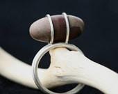 Shiva Lingam Sterling Silver Ring
