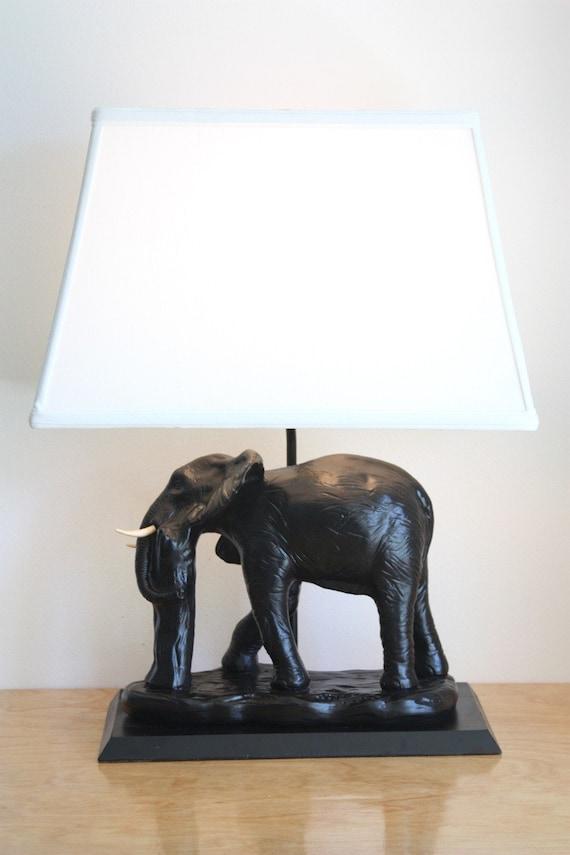 Vintage Ceramic Elephant Table Lamp