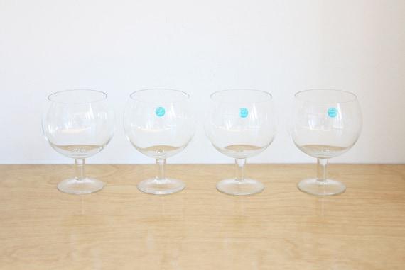Vintage Set Of 4 Tiffany Co Red Wine Glasses Goblets