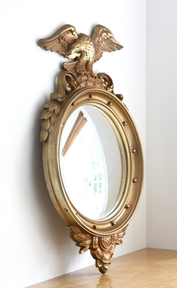 Large Vintage Convex Mirror By Syroco By Estateeclectic On