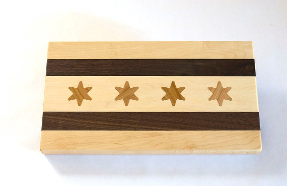 Chicago Flag Cocktail Board