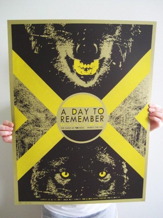 a day to remember concert poster. Black Bedroom Furniture Sets. Home Design Ideas