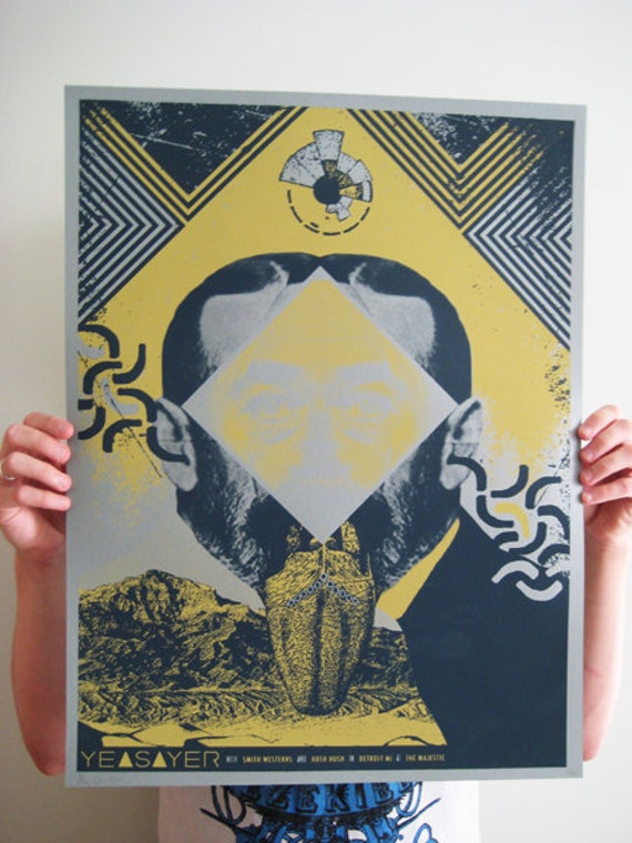 Yeasayer limited edition concert poster
