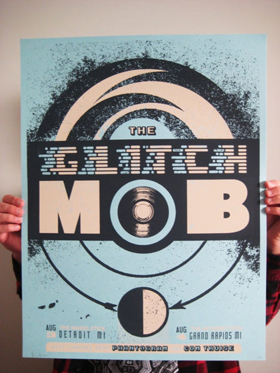 The Glitch Mob limited edition concert poster