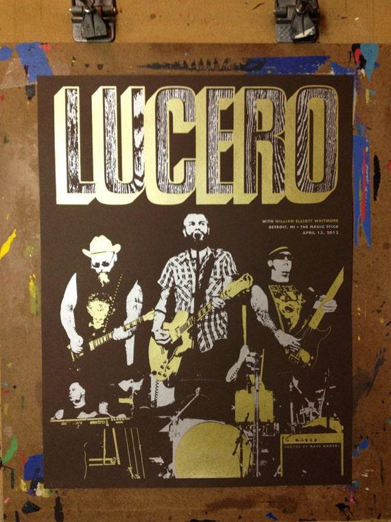 LUCERO concert poster