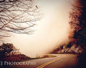 Foggy Blue Ridge Parkway II