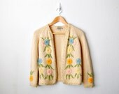 1950s Vintage Jane Hunter Flower Sweater