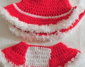 mrs. clause crochet outfit for newborn - one year